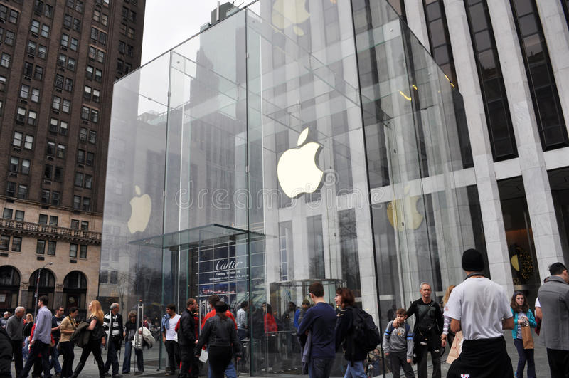 苹果计算机商店 库存图片