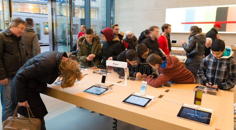 苹果计算机商店 免版税库存图片