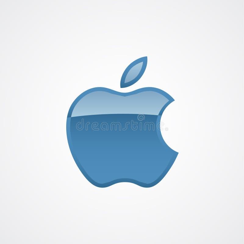 苹果计算机商标现代象传染媒介模板 库存例证
