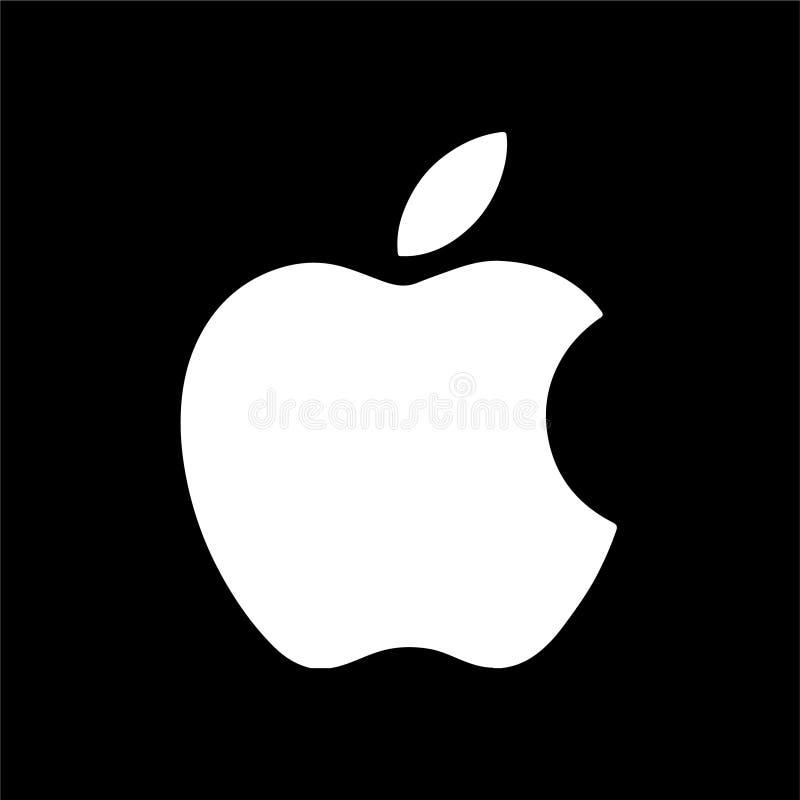 苹果计算机商标社论传染媒介例证 皇族释放例证