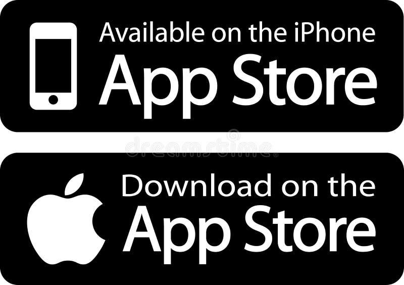 苹果计算机应用商店 皇族释放例证