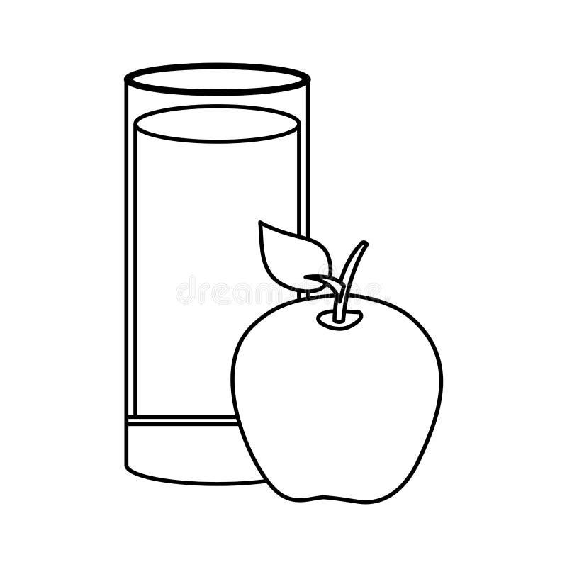 苹果计算机新鲜水果汁 向量例证