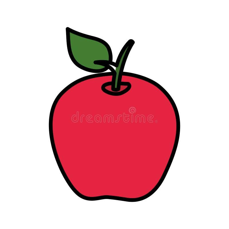 苹果计算机新鲜水果象 向量例证