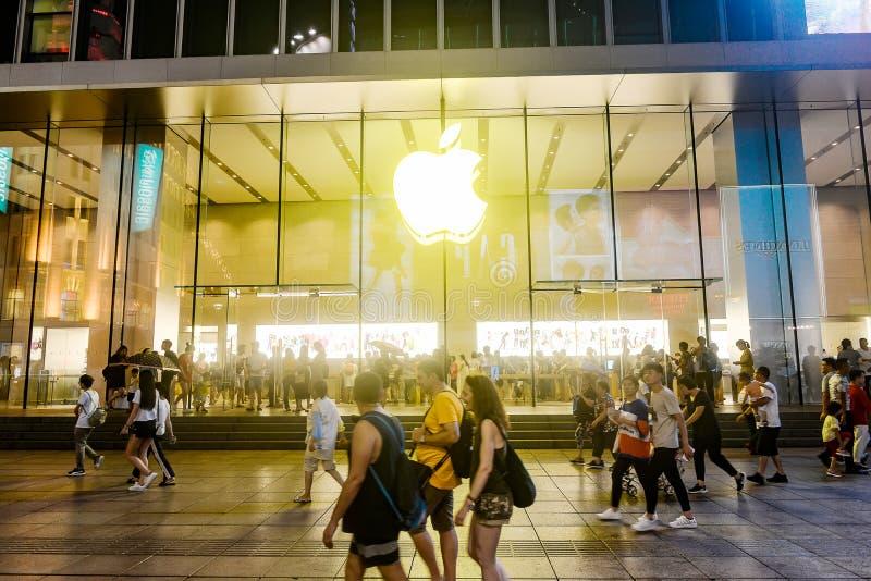 苹果计算机旗舰经验商店 库存图片