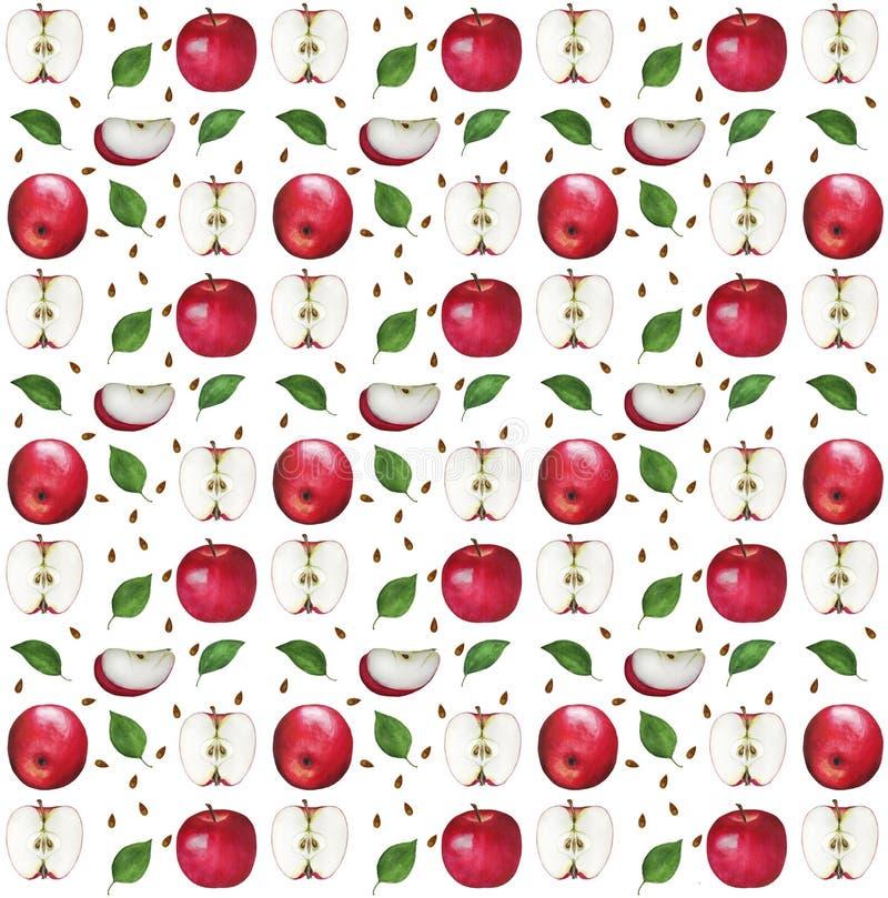 苹果计算机水彩样式 免版税库存照片