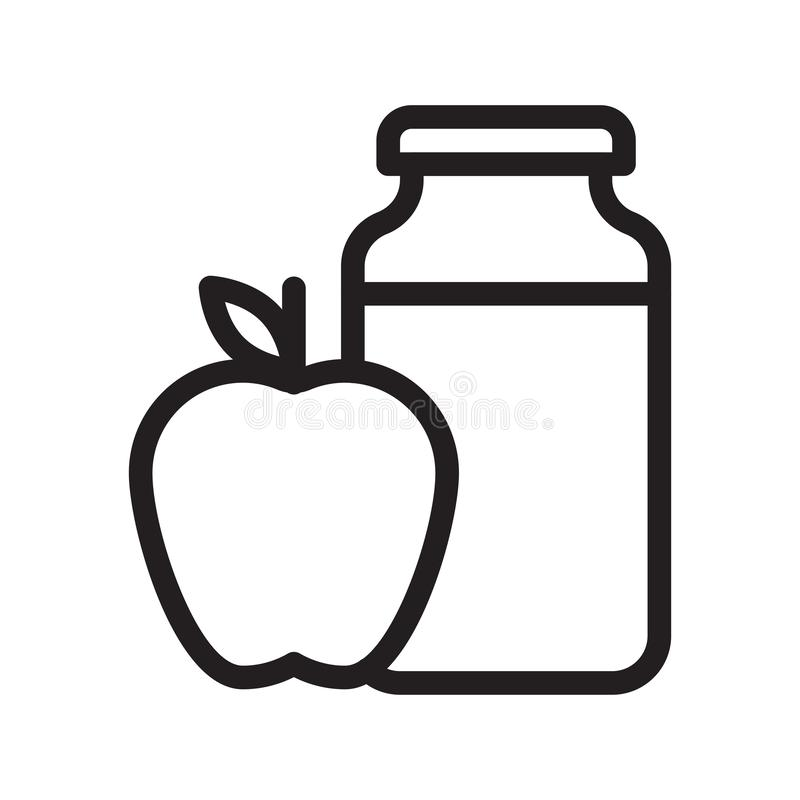 苹果计算机瓶子稀薄的线传染媒介象 库存例证