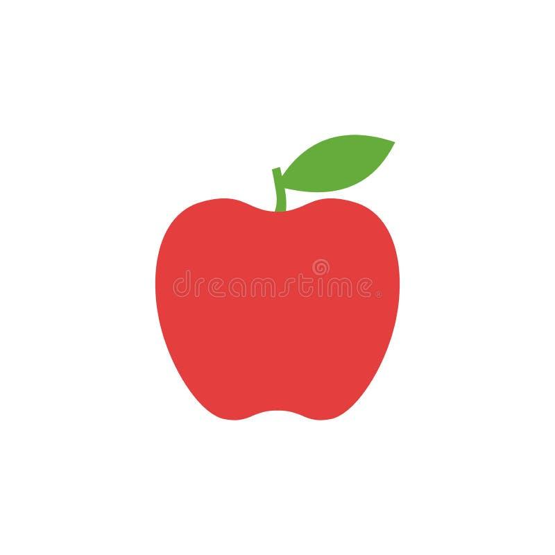 苹果计算机象,简单设计,苹果计算机象剪贴美术 向量例证