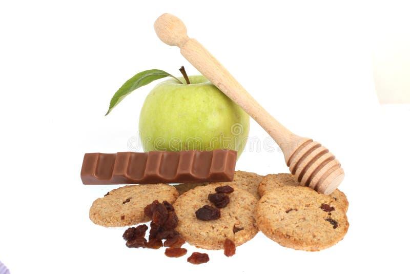 苹果计算机饼干 库存图片