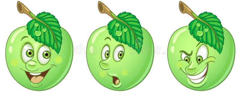 苹果计算机 食物Emoji意思号汇集 库存例证