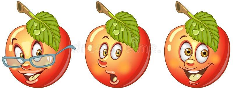 苹果计算机 食物Emoji意思号汇集 皇族释放例证