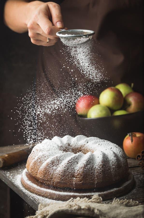苹果计算机bundt蛋糕 免版税库存照片