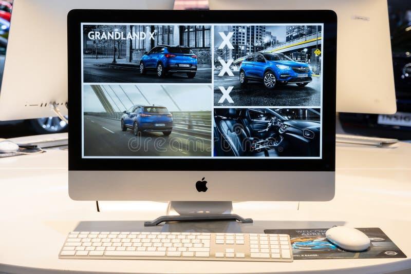 苹果计算机iMac计算机 免版税库存图片