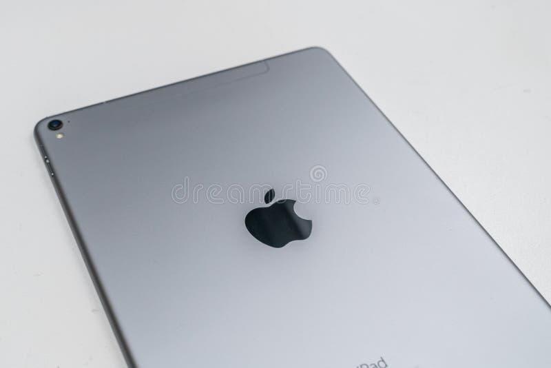 苹果计算机iPad赞成空间灰色 免版税库存图片