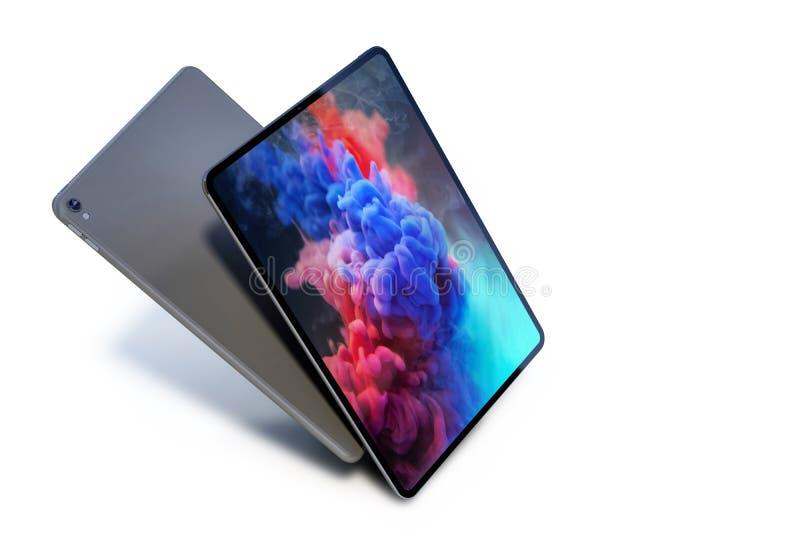 苹果计算机iPad赞成2018动态仿真预览 图库摄影