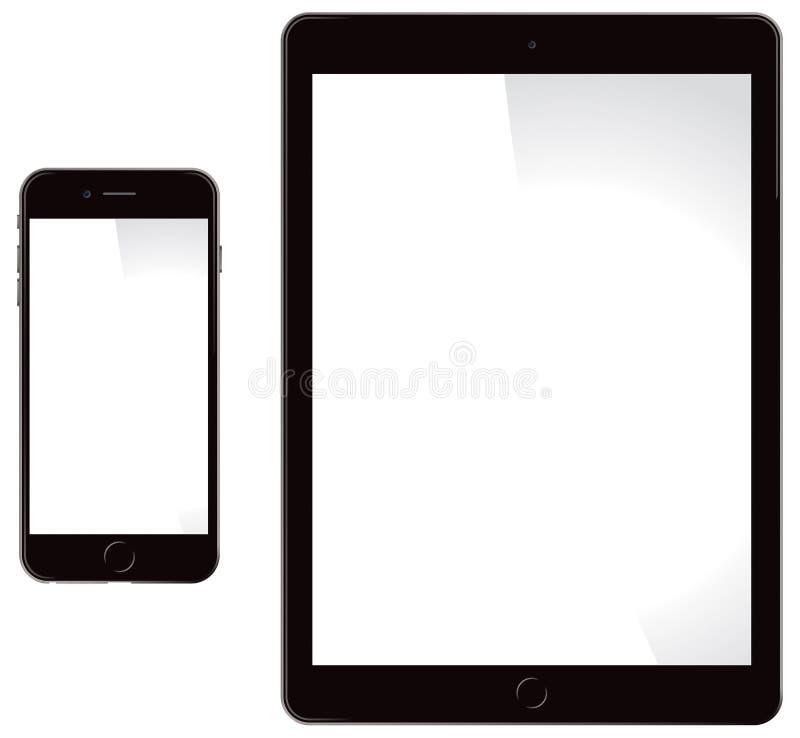 苹果计算机iPhone和iPad 皇族释放例证