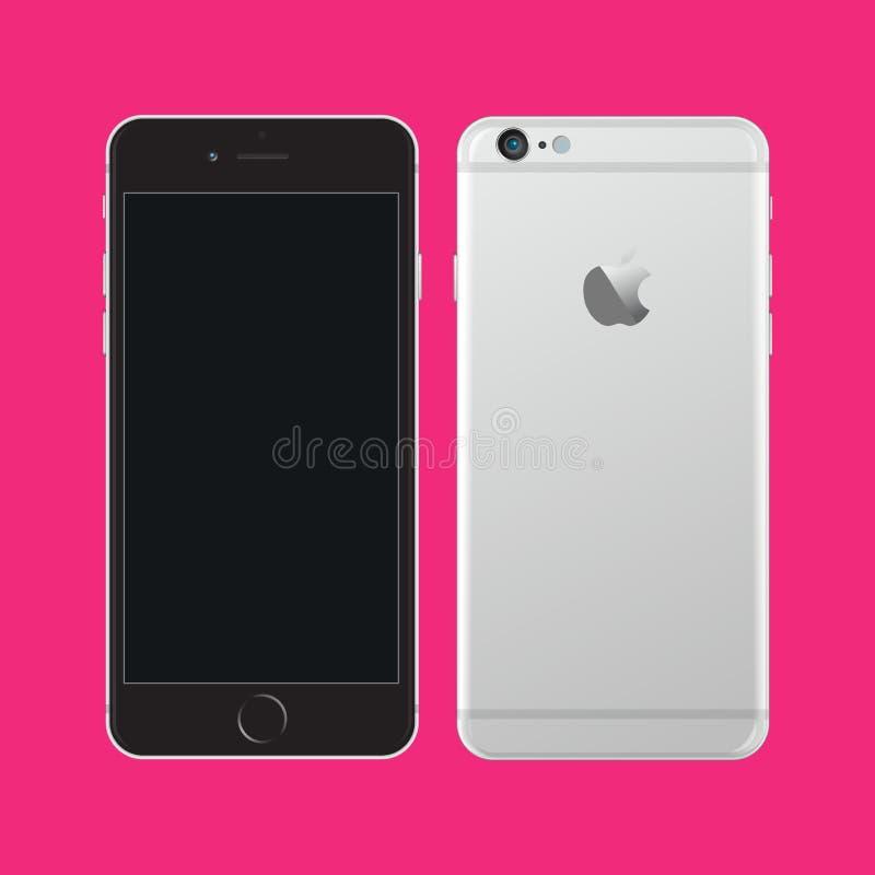 苹果计算机iPhone 6 皇族释放例证