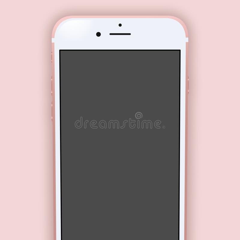 苹果计算机iPhone 6s罗斯金子 皇族释放例证