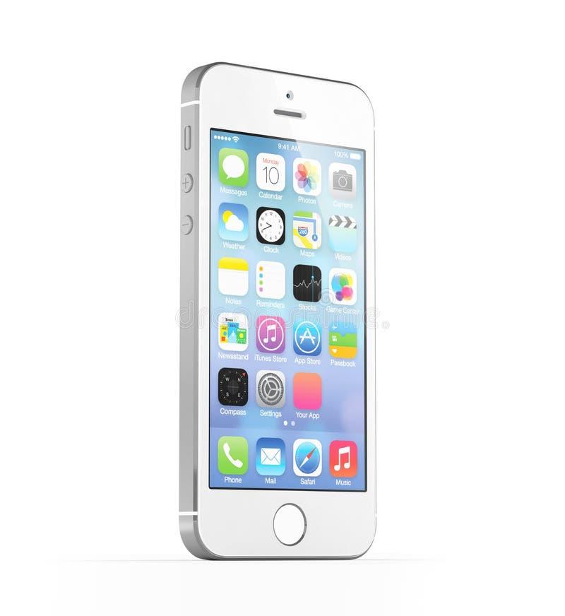 苹果计算机iphone 5s 库存例证