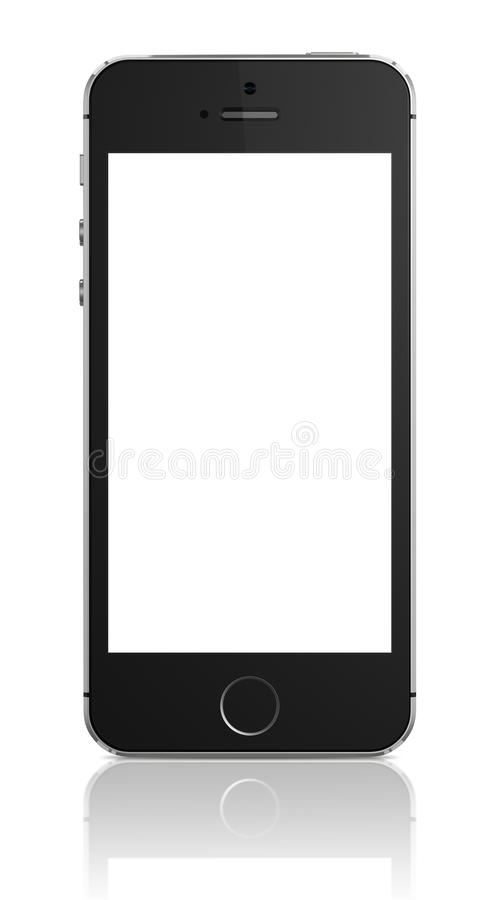 苹果计算机iphone 5s 向量例证
