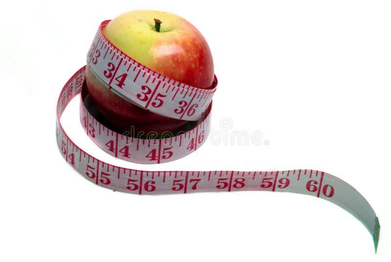 苹果评定的磁带 免版税图库摄影