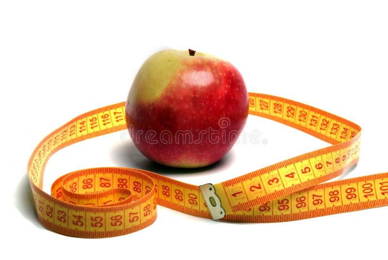 苹果评定的磁带 免版税库存照片