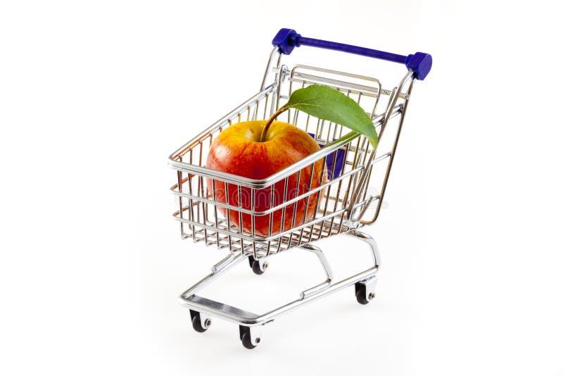 苹果购物车购物 库存照片