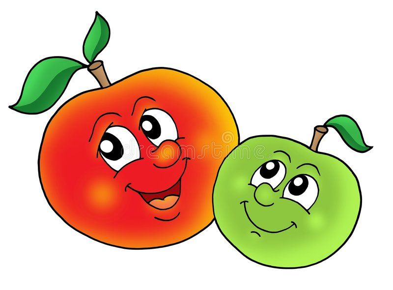 苹果配对微笑 向量例证