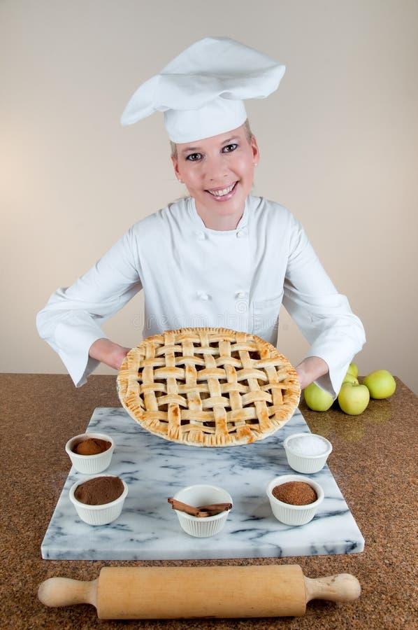 苹果面包师饼 免版税图库摄影