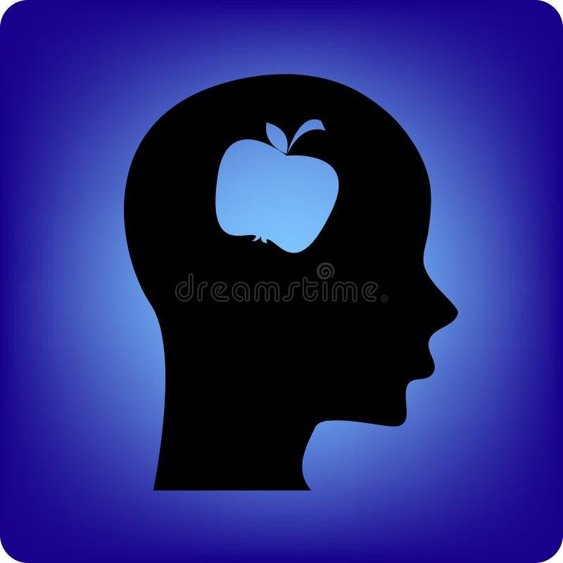 苹果题头 向量例证