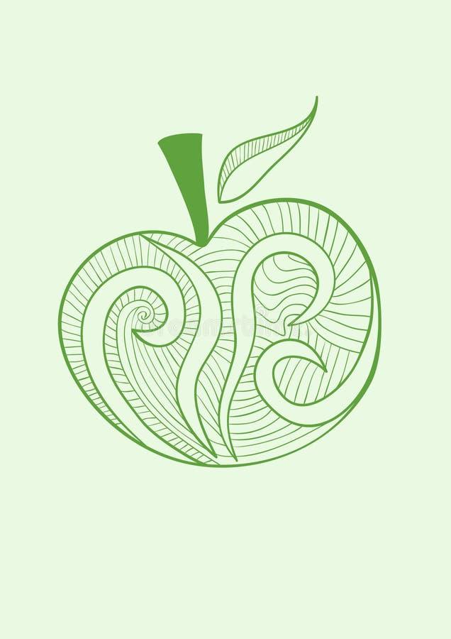 苹果风格化向量 皇族释放例证