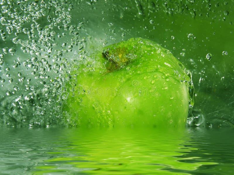 苹果飞溅 图库摄影