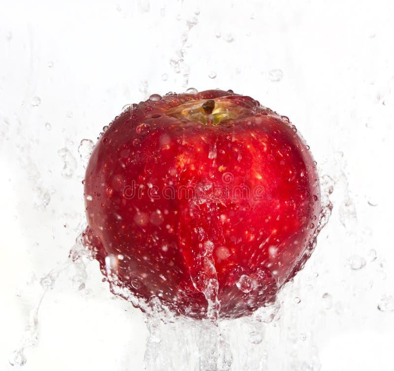 苹果飞溅 免版税库存图片
