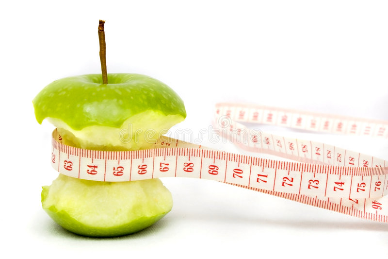 苹果饮食绿色 免版税库存照片