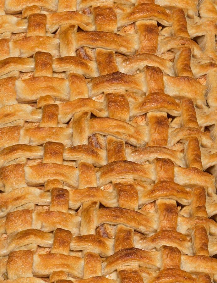 苹果饼格子外壳背景 库存图片