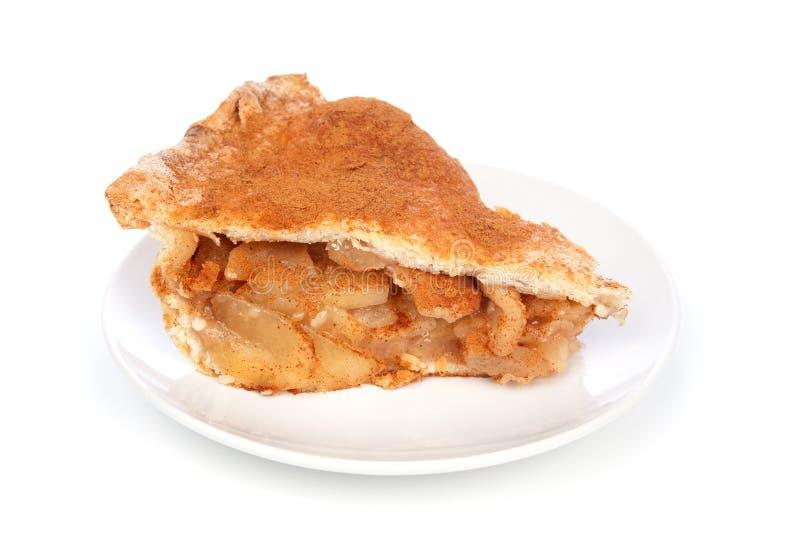 苹果饼片式 免版税库存图片