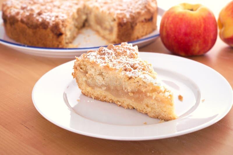 苹果饼片断与碎屑的 库存图片