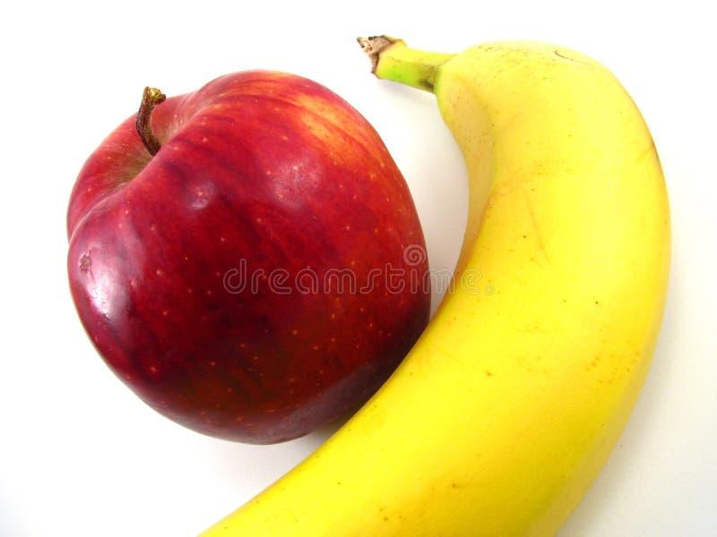 苹果香蕉 免版税图库摄影