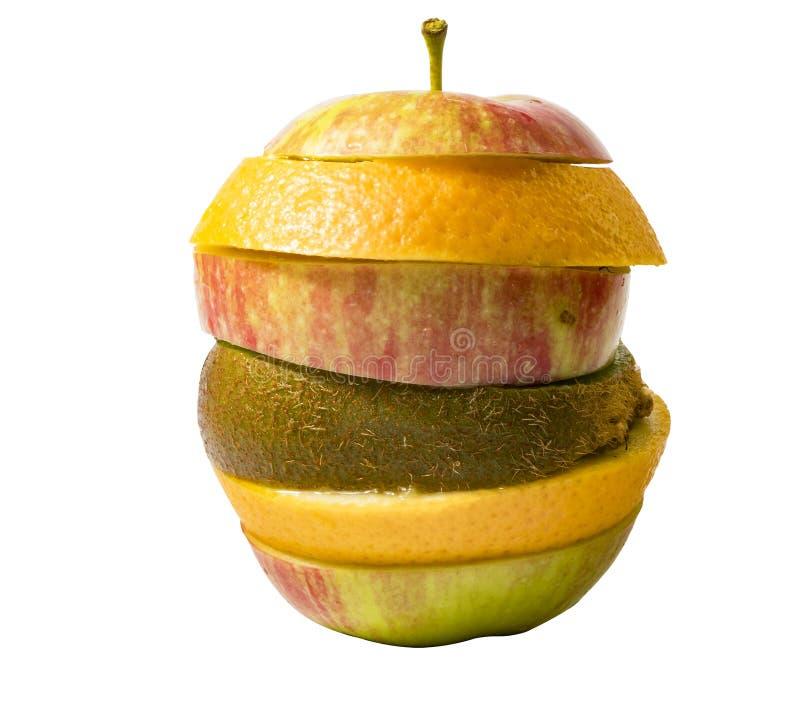 苹果水果鸡尾酒  图库摄影