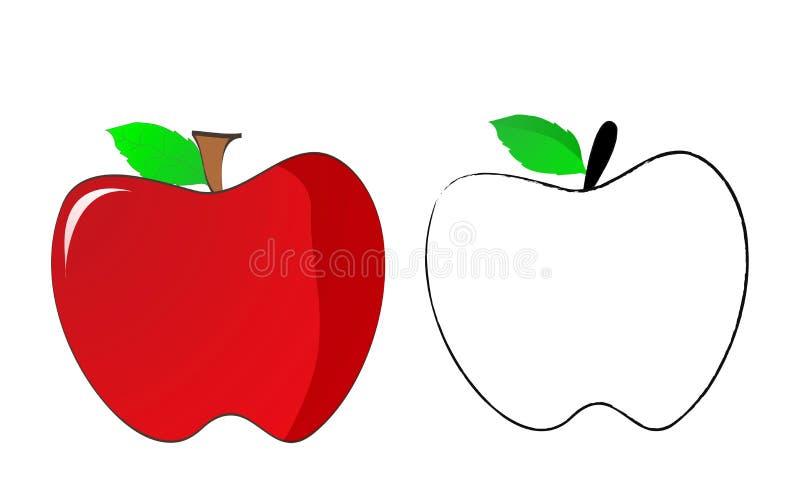 苹果 皇族释放例证