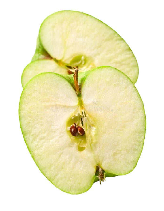 苹果cuted绿色 免版税库存图片