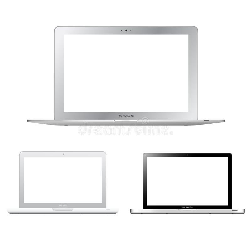 苹果macbook系列 向量例证
