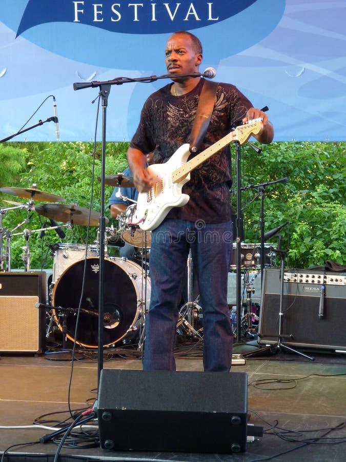 范围兄弟吉他弹奏者内维尔 库存照片