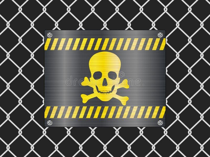 范围海盗旗符号电汇 向量例证