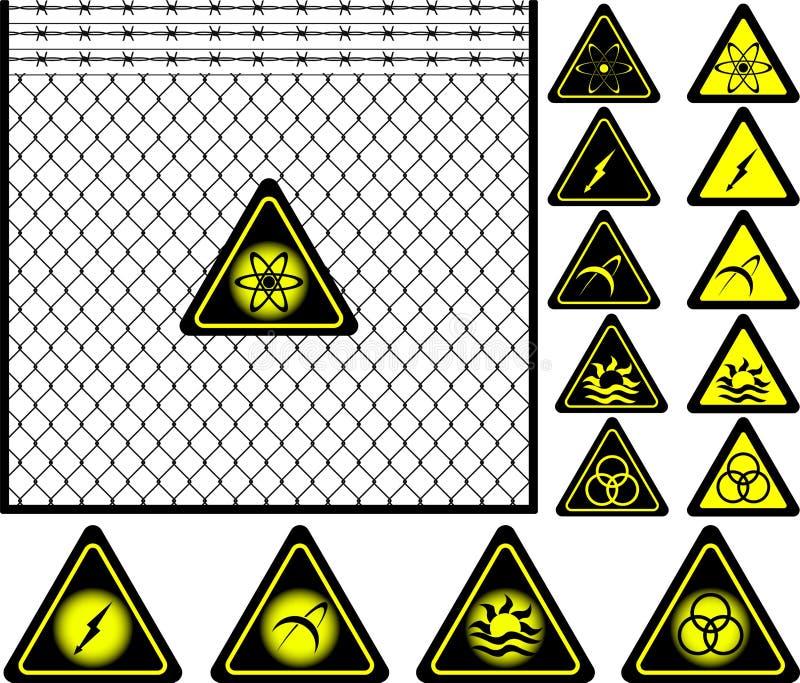 范围滤网签署警告电汇 库存例证