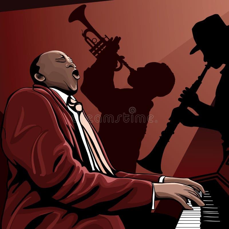范围爵士乐 向量例证