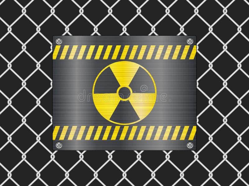 范围辐射符号电汇 库存例证
