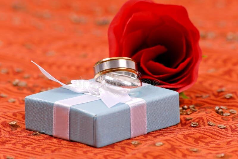 范围银色纯正的婚礼 库存图片