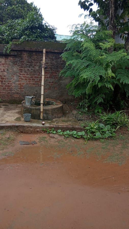 范德维尔,水源,老系统,村庄wel 免版税库存照片