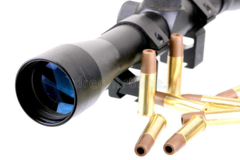 范围和子弹 免版税库存照片