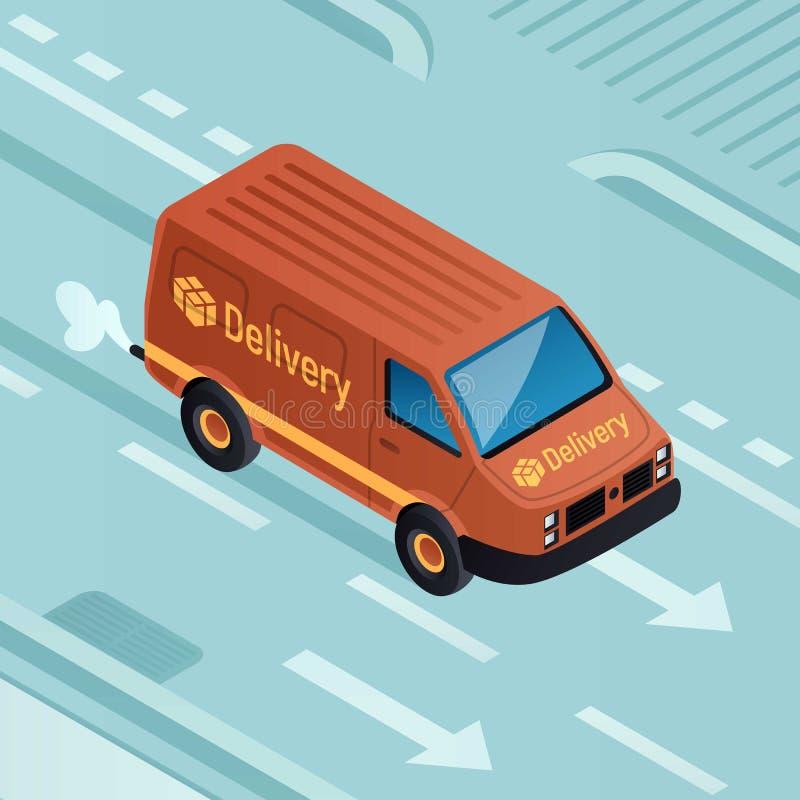 范parcel交付概念背景,等量样式 向量例证